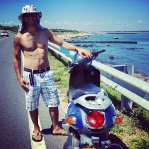 Driving the moped all around BlockIsland was pretty amazing andhellip