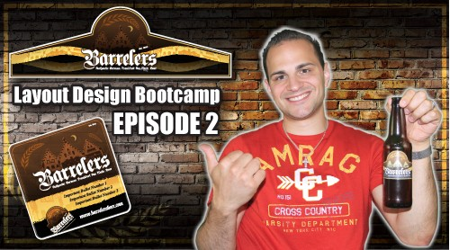 Layout Design Bootcamp – Episode 2 – Label / Drink Coaster