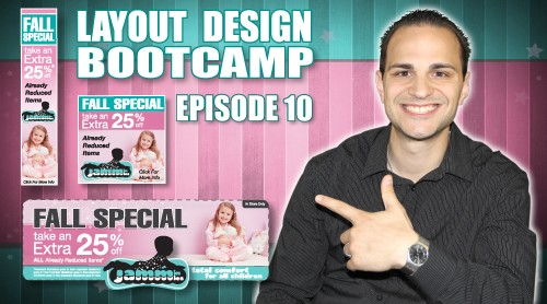 Layout Design Bootcamp – Episode 10 – Website Coupon / Ad