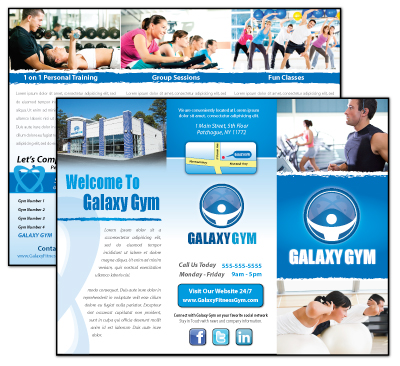 professional gym brochure design layout