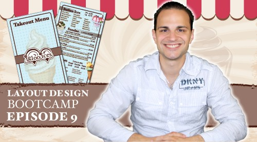Layout Design Bootcamp – Episode 9 – Menu / Rack Card