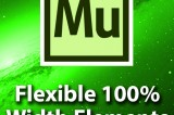 Adobe Muse CC Tutorial – 100% Flexible Width Elements