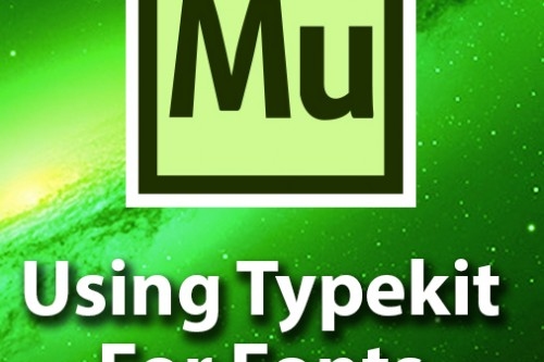 Adobe Muse Getting Started – Adding Fonts With Typekit
