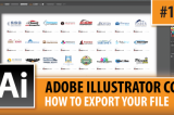 Adobe Illustrator CC 2014 – How To Export Your File – Episode #14