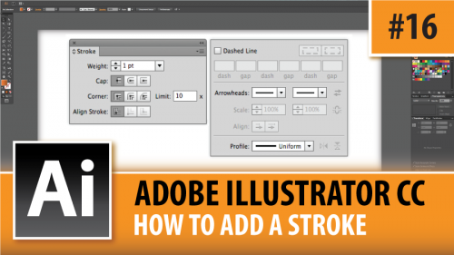 Adobe Illustrator CC 2014 – How To Add A Stroke – Episode #16