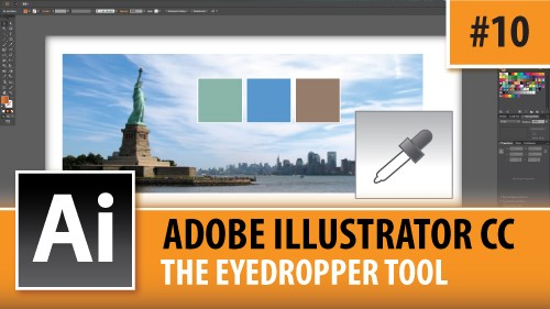 Adobe Illustrator CC 2014 – The Eyedropper Tool – Episode #10