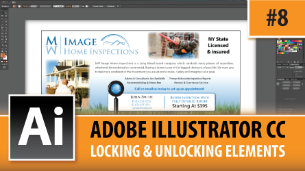 Adobe Illustrator CC 2014 – Locking & Unlocking Elements – Episode #8