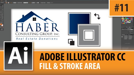 Adobe Illustrator CC 2014 – Fill & Stroke Area – Episode #11