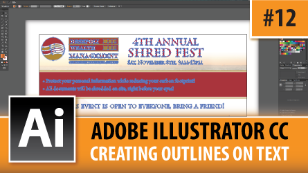 Adobe Illustrator CC 2014 – Creating Outlines On Text – Episode #12