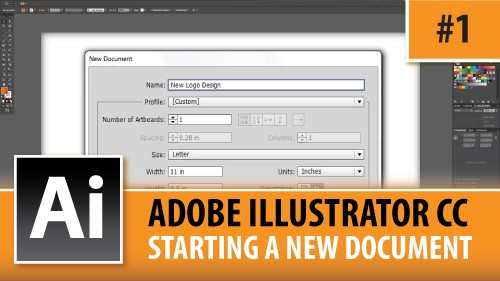 Adobe Illustrator CC 2014 – Starting A New Document – Episode #1