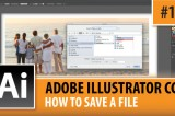 Adobe Illustrator CC 2014 – How To Save A File – Episode #13