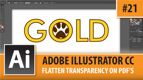 Adobe Illustrator CC 2015 – Flatten Transparency On PDF's – Episode #21