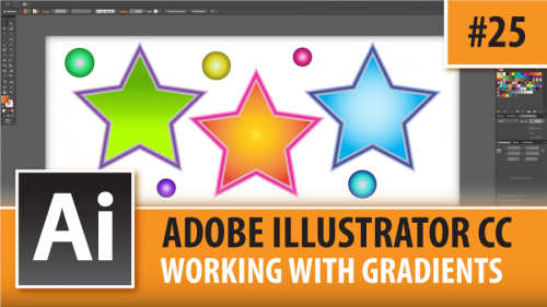 Adobe Illustrator CC 2015 – Working With Gradients – Episode #25